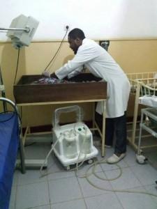 Abilito in het ziekenhuis aan het werk